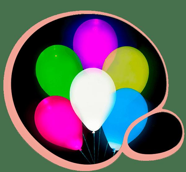 Латексные шары светящиеся