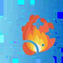 Мыльный пузырь с огнем